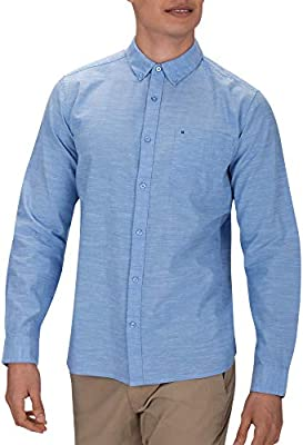 Hurley M One and Only LS Camisa de Manga Larga, Hombre, Azul (Blue Ox), S: Amazon.es: Ropa y accesorios