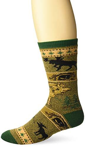 For Bare Feet Men's FBF Originals Wildlife Novelty Socks, Moose Eyes, Large