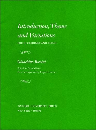 Introduction, Theme and Variations for B♭ Clarinet and Piano