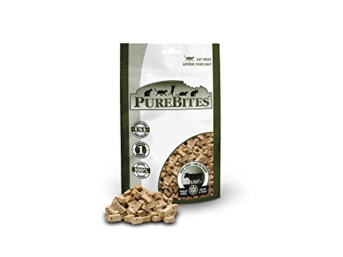 PureBites Beef Liver for Cats, 1.55oz / 44g - Value Size - Liver Cat Treats