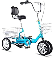 Adult Folding Tricycles 3 Wheel Adult Trikes Bike 7 Speed for Recreation Shopping Exercise Men's Women