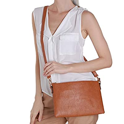 Humble Chic Vegan Leather Crossbody Tablet Purse - Convertible Travel iPad Wallet Pouch or Messenger Bag