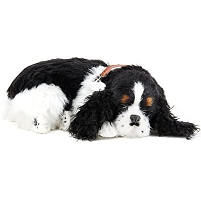 PRECIOUS PETZZZ Lifelike Breathing Huggable Cute Puppy Dog Cat Birthday Gift UK by Lizzy (Cocker Spaniel): Toys & Games