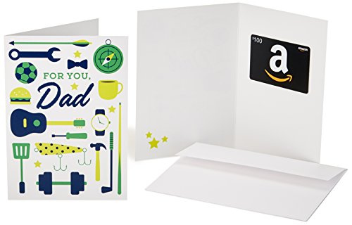 Discount Amazon.com $100 Gift Card Greeting (Dad Icons Design)