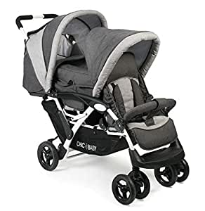 CHIC 4 BABY 274 63 Duo - Carrito para hermanos, color gris: Amazon.es: Bebé