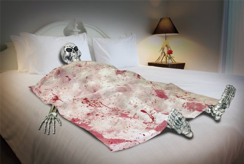 Skeleton Death Bed Halloween Prop Haunted House Skull Bloody Zombie - Haunted House Light
