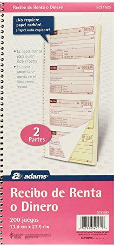 Adams Recibo Renta o Dinero, Spanish Language Rent or Money
