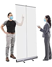 Floor Standing Sneeze Guard, Plexiglass Shield for Desk, Cafe and Salon | 3ft x 6ft Plexiglass Sheet | Sneeze Guard Plastic Shield for Small Businesses | Made in The United States YZPFSD