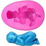 MANGO-molde fondant Niño durmiendo bebé del silicón