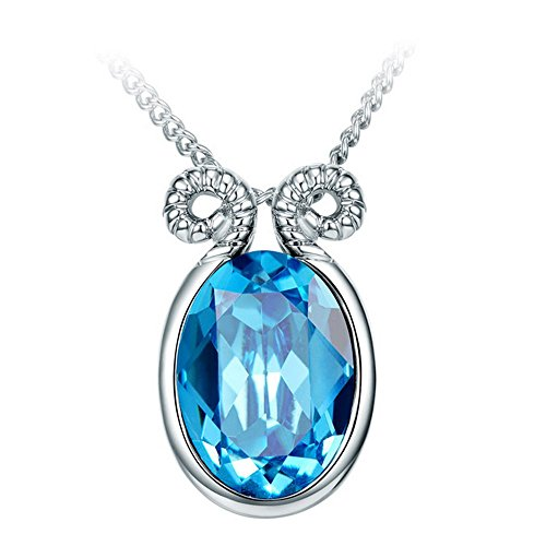 Blues Brothers Costume Australia (The Starry Night Blue Crystal Twelve Constellations Silver Warmth Aries Necklace 17.72