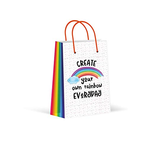 Premium Rainbow Party Bags, Party Favor Bags, New, Treat Bags, Gift Bags, Goody Bags, Party Favors, Party Supplies, Decorations, 12 Pack