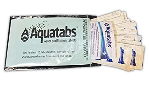 Aquatabs Water Purification Tablets 200 Pack (Military Water Purification)