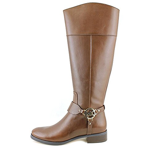Michael Kors Womens Fulton Harness Leather Almond Toe Mid-Calf Fashion Boots Mocha 8oCAdP8RE