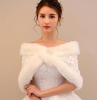 62e2202d533fa Happy snowflakes ショール 結婚式 花嫁 二次会 ウエディング 肩掛け ストール ケープ ファーショール ボレロ ブライダル用