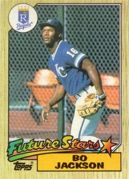 1987 Topps Baseball 170 Bo Jackson Rookie Card At Amazons