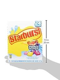 Starburst Summer Splash Fruit Chews Candy, 2.07 ounce (Packs of 24)