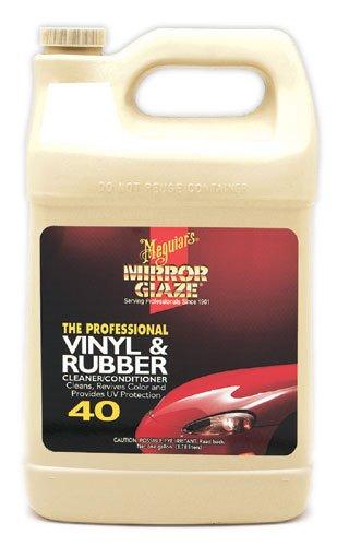 Meguiar's M4001 Mirror Glaze Vinyl & Rubber Cleaner & Conditioner, 1 Gallon