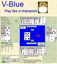 V-Blue Internet Based Interactive Bridge Hands-1yr Availability-Beginner Year 1 (2 Over 1 Bidding System In Bridge)