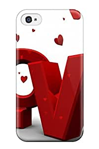 Hot Style QtgNSiE6800TRejZ Protective Case Cover For Iphone4/4s(red Love)