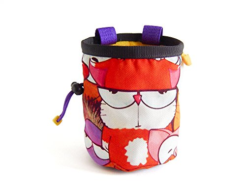 Cool Chalk Bag for Rock Climbing with Animal. Handmade ChalkBag , L Size ()
