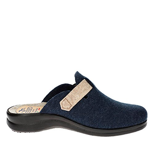 Femme Flot Bleu Mules Fly pour wntdYqW5aT