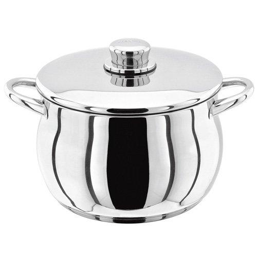 Stellar Stockpot, Silver, 24 cm, 5.7 Litre Horwood Homewares S145 Cookware Pasta Pots & Stockpots