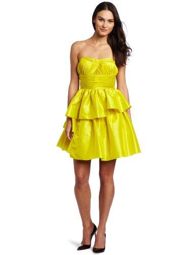 Jessica Simpson Women's Strapless Sequin Dress, Citronelle, 9