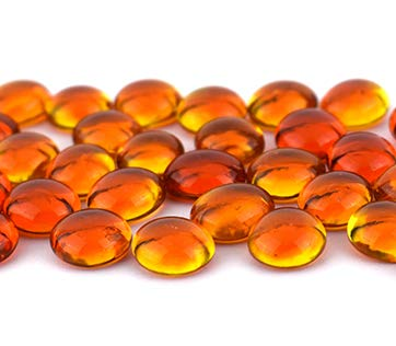 96 COE By Stallings Stained Glass Oceanside Pebbles Orange Cathedral 8oz