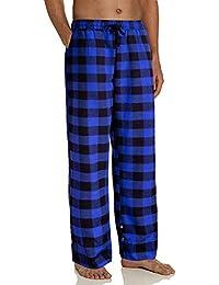 Men's Heavyweight Flannel Plaid Pajama Pants 100% Cotton Sleep Lounge Pant