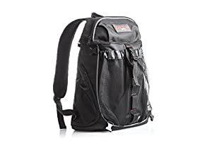 Motorcycle Travel Backpack with Helmet Holder: Water Resistant Cycling and Tactical Biking Pack for Dirt, Road, and Sport Bikes; Durable Lightweight TSA Compliant Carry On Bag for Men or Women by Badass Moto Gear