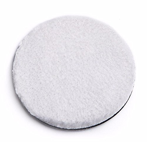 "SGCB Ultra Fine Microfibre Finishing Pad, 5"" Car Wax Applicator Pad Polishing Hook and Loop Pad Soft Buffing Wool Pad Kit for Polisher Buffer Pneumatic Machine Car Stone Ceramic Furniture Glass"