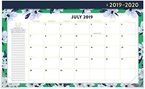 Simplified 2019-2020 Calendario mensual de escritorio para ...