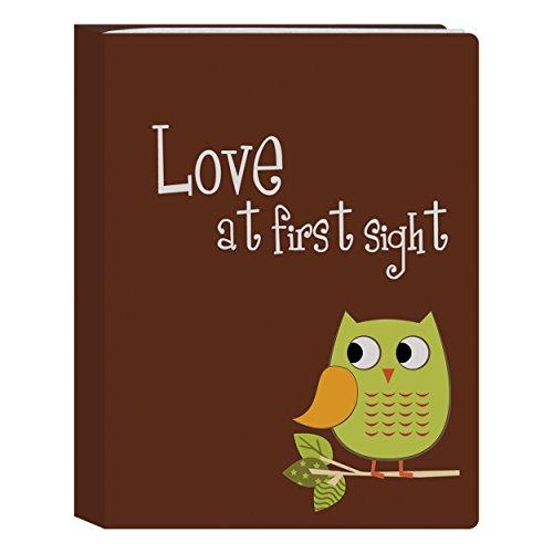Pioneer Photo Albums I-46B/O 36-Pocket Baby Owl Designer Photo Album, Green -