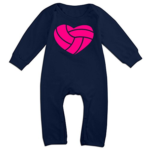 [Yours Volleyball In Shape Of Heart For 6-24 Months Baby Particular T Shirt Navy Size 6 M] (Baby Megamind Costume)