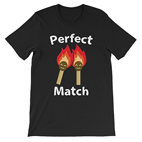 Perfect Match Unisex T-Shirt, Black L (Matchbox Lighter)