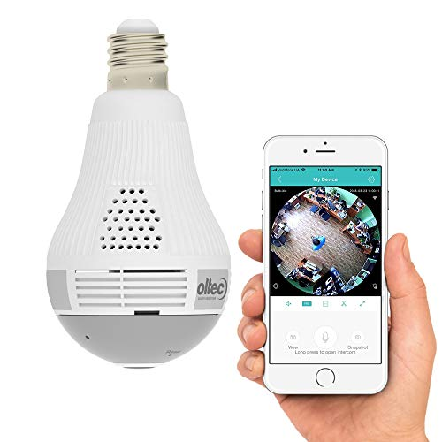 Light Camera Security 1080p WiFi Wireless Smart spy