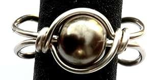 Ear cuff. Luz Verde Oliva checa cristal Pearl Stud Juego de puños en plata, solo o pares de puños (sin perforar), plata, Single cuff