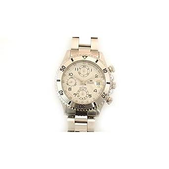Armbanduhr PRYNGEPS A425 Herren 3bis cr766 Schalter Stahl Quandrante weiß Armband Stahl
