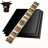 Non Stick BBQ Grill Mat 3 Pack- By Fort Worth BBQ Accessories for Outdoor Cooking Grills, Smokers, Pizza Ovens, and Indoor Kitchen Ovens
