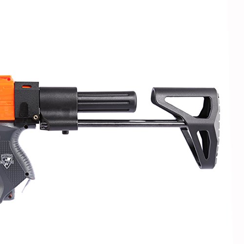 Goshfun Worker stock Simple Retractable Blaster Stock for Nerf N-Strike Elite And Nerf Modulus Series Toys Blaster - Black