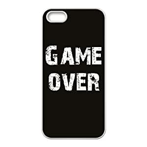 Game Over Design Unique Customized Hard Case Cover for iPhone 5,5S, Game Over iPhone 5,5S Cover Case
