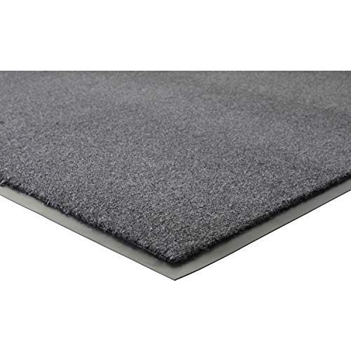 - Genuine Joe Silver Series Walk-Off Mat - 6' Length x 4' Width - Vinyl - Charcoal