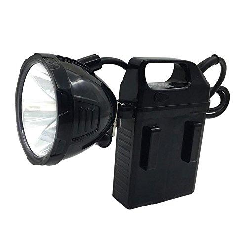 Batterie Scheinwerfer Blendung Taschenlampe Fischerei Lampe Aufladen Nacht Angeln Lichter Angeln Batterie Lichter Led Miner'S Lampe Split Scheinwerfer Fackel,Gelbes Licht