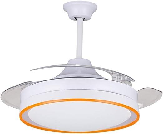WBOX Ventiladores de Techo Invisibles con lámpara, iluminación Minimalista, Ventilador de Dormitorio Minimalista, Ventilador silencioso, Interruptor de Control Remoto, 42 Pulgadas: Amazon.es: Hogar