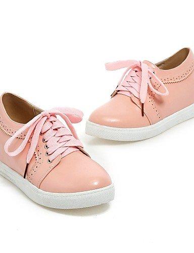 Habillé Cn37 Njx Eu37 Arrondi Plat 7 us6 Richelieu Rose Noir 5 Beige Femme Pink Chaussures 5 Blanc Similicuir Talon Bureau 5 amp; Uk4 Bout Travail CSRPSXOrwq