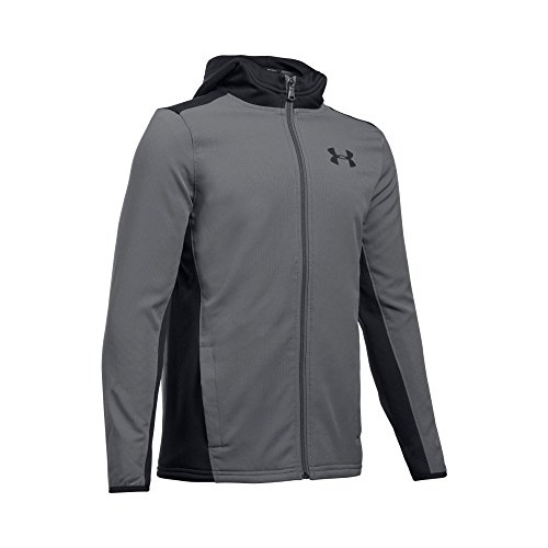 - Under Armour Boys' Construkt ColdGear Reactor Hoodie,Graphite (040)/Black, Youth Large