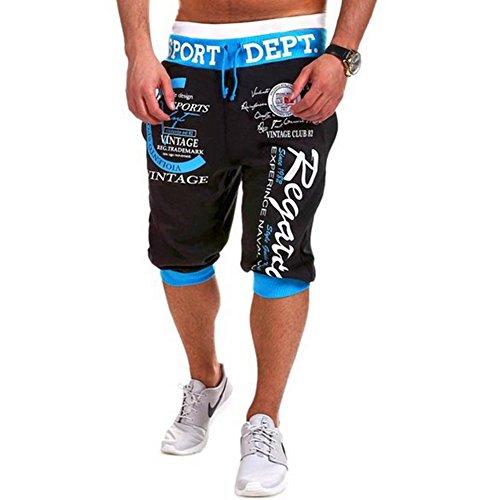 Yying Homme Pantalon Court - Bermuda Pantacourt Sport Jogging Poches Casual Décontracté Fitness Shorts Pantalon M-2XL