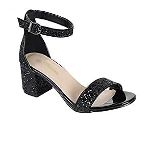 Kebinai Summer Thick with Shoes Round New Woman,Black,37