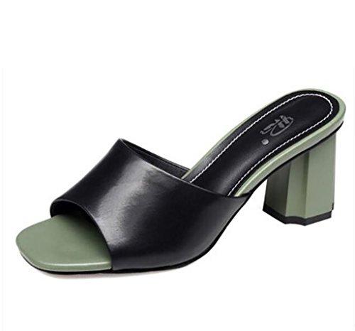 Fashion Sandales Sandales nbsp; Pantoufles Confort Talons Taille Sandales épais et A B Couleur Mode Plates Femme de et Pantoufles Sandales Chaussures Sandales FAFZ à Sandales 36 Femme Chaussons wa1Pq7w