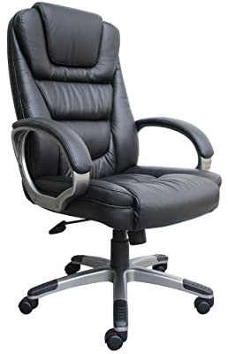 Boss Black LeatherPlus Executive Chair